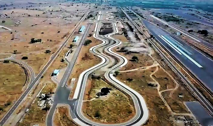 High speed track for automobile testing in India