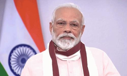 Prime Minister Shri Narendra Modi announces special economic package of INR 20 lakh crore.