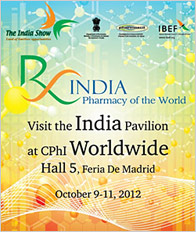 Engage with Brand India Pharma at CPhI Worldwide 2012